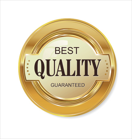 Illustration pour Quality golden badge - image libre de droit