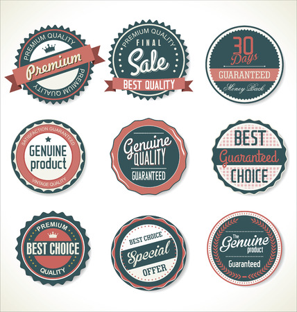 Photo pour Premium, quality retro vintage labels collection - image libre de droit