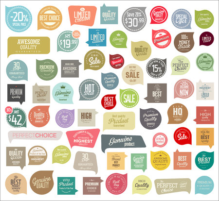 Illustration for Badges and labels collection - Royalty Free Image
