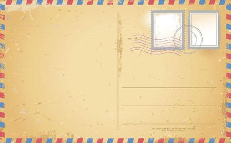 Illustration pour vector of old vintage postcard - image libre de droit