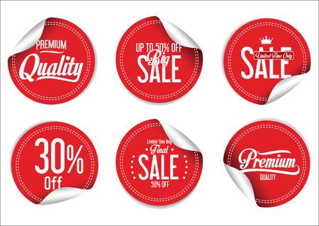 Illustration pour Sale Labels collection - image libre de droit