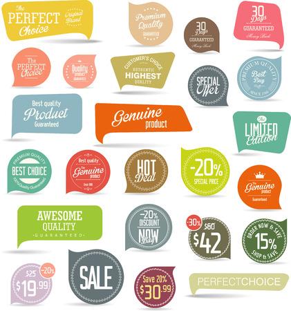 Illustration pour Modern sale stickers collection - image libre de droit