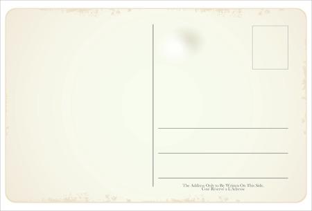Illustration pour Postcard vector retro vintage design - image libre de droit