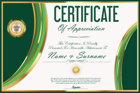 Illustration pour Certificate retro design template - image libre de droit