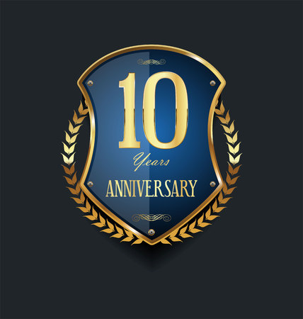 Illustration for anniversary background 10 years - Royalty Free Image