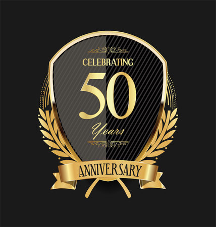 Illustration for anniversary background 50 years - Royalty Free Image