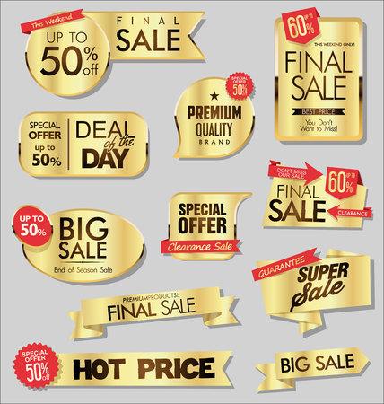 Illustration pour modern sale stickers - image libre de droit