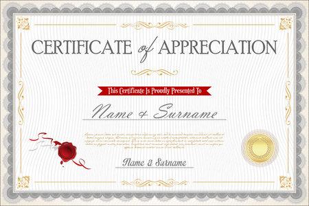 Illustration pour certificate - image libre de droit