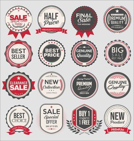 Illustration pour Retro vintage badges and labels - image libre de droit