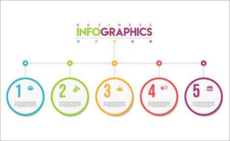 Illustration pour modern infographic colorful design template - image libre de droit