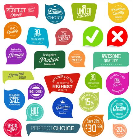 Foto per modern colorful sale stickers collection - Immagine Royalty Free