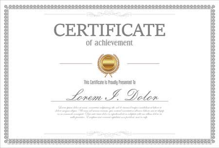 Illustration pour Certificate or diploma retro vintage design - image libre de droit