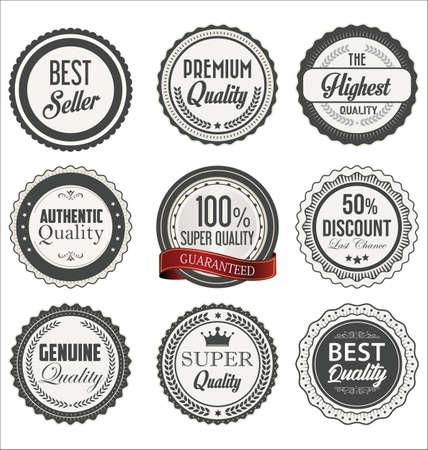 Photo pour Vintage styled premium quality and best seller badges collection - image libre de droit