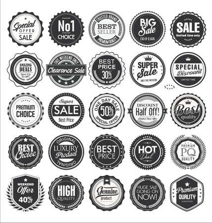 Illustration pour Retro vintage badge and label collection - image libre de droit