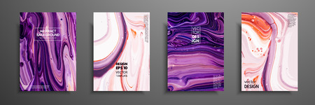 Illustration pour Mixture of acrylic paints. Modern artwork. Trendy design. Marble effect painting. Graphic hand drawn design for design covers, presentation, invitation, flyer, annual report, poster and business card - image libre de droit