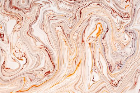 Photo pour Abstract acrylic paint waves texture. Beautiful, luxury marble, granite pattern background. Modern, natural pastel mineral, resin art. Fluid, oil, paint minimal decorative backdrop - image libre de droit