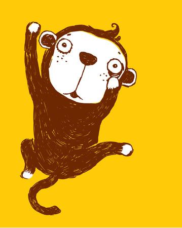 Ilustración de naughty monkey - Imagen libre de derechos