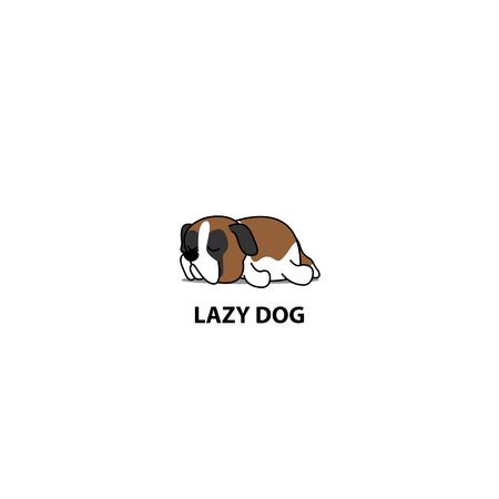 Cute lazy dog icon.