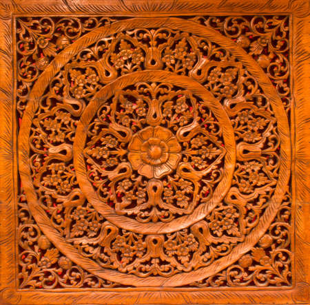 carved pattern on the wood