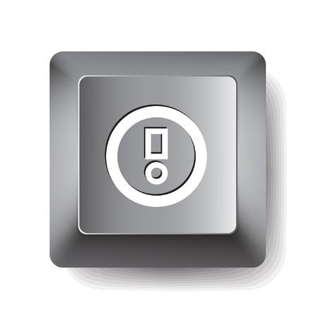 Computer key. Notice