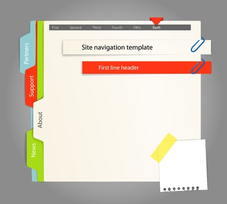 Web site template. Paper style