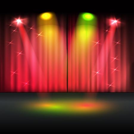 Illuminated stage template