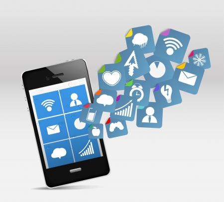Modern mobile phone and social media
