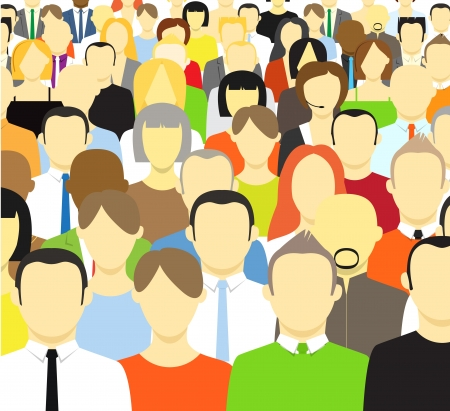 The crowd of abstract people  Vector illustrationのイラスト素材