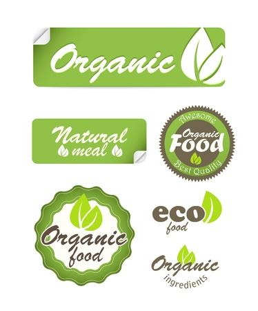 Vektor für Eco food stickers isolated on white - Lizenzfreies Bild