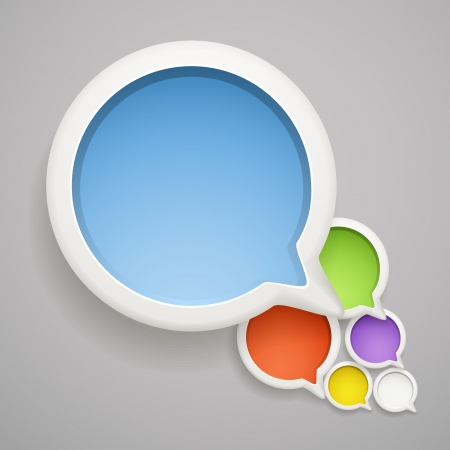 Abstract speech cloud of color bubbles. Ready foᅵ a text