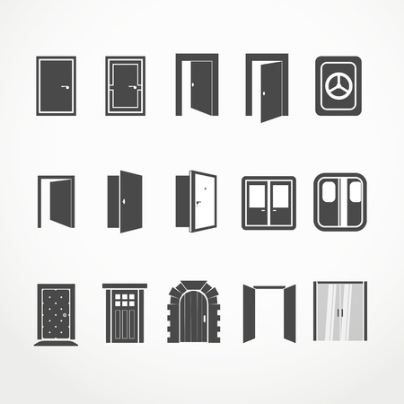 Different doors web icons collectionのイラスト素材