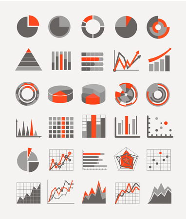 Graphic business ratings and charts  infographic elements