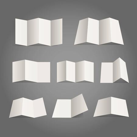 Different paper map collection. Design elements