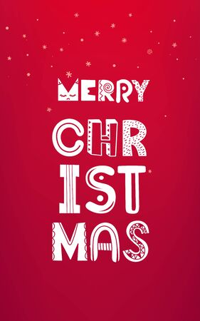 Illustration for Christmas vector artistic greeting card. Vector banner - Royalty Free Image