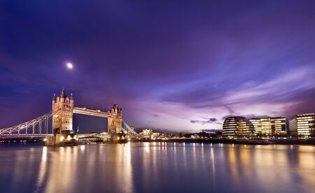Photo for Panorama view of London tower bridge and Financial buildings . - Royalty Free Image