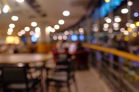 Photo pour blur cafe background for advertisement, wide view - image libre de droit