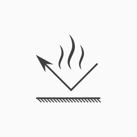 Illustration pour Fireproof material. Fire and steam resistant coating icon. Gas, dust and aerosol protection. Vector - image libre de droit