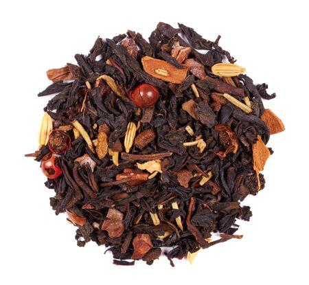 Photo pour Fruit tea macro photo, herb drink. - image libre de droit