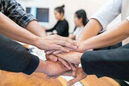 Photo for Teamwork Power Successful Meeting Workplace Concept - Royalty Free Image