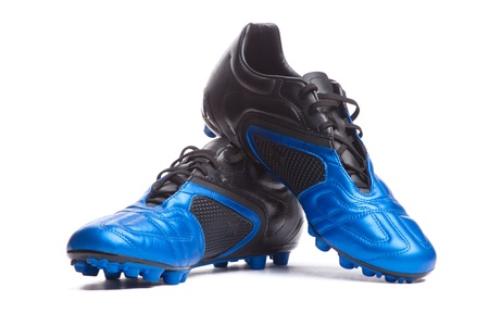 Footbal boots. Soccer boots. Isolated on white.