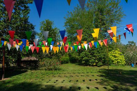 Photo pour Decorative flags Carnival In nature - image libre de droit