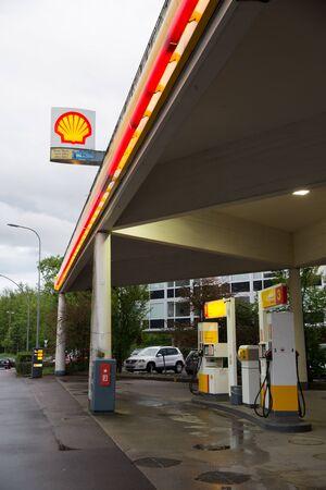 Petrol station at Switzerland