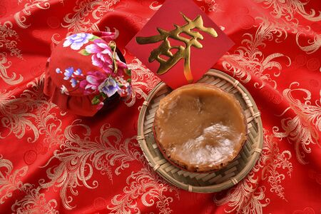 Photo for High angle shot of Chinese New Year glutinous rice cake China - Royalty Free Image