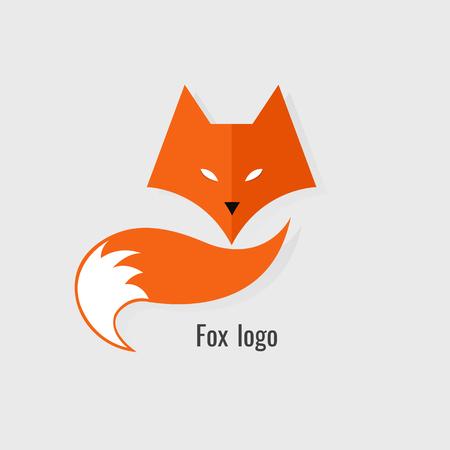 Illustration for Fox Orange logo. modern on white background - Royalty Free Image