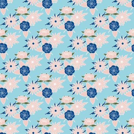 Vektor für Floral seamless pattern background trend 2018 colors. Vector illustration - Lizenzfreies Bild