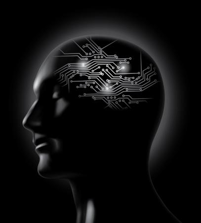 Brainstorm- circuit board brain concept