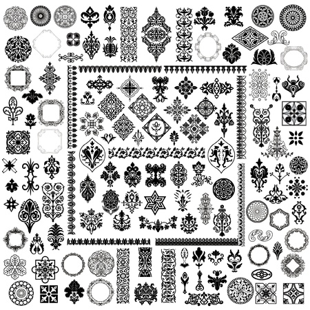 100 different style design elements