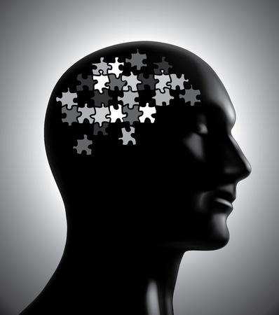 Brainstorm-brain puzzle concept