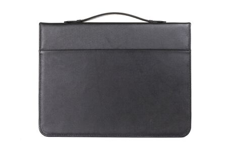 closed matte leather document folder.