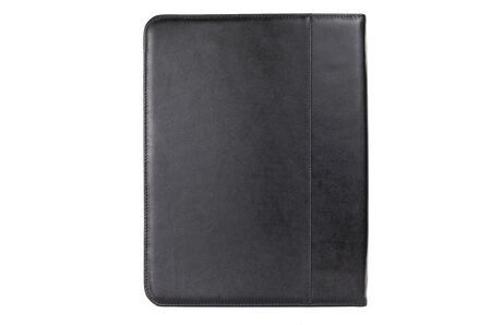 office leather folder for securities on a white background.